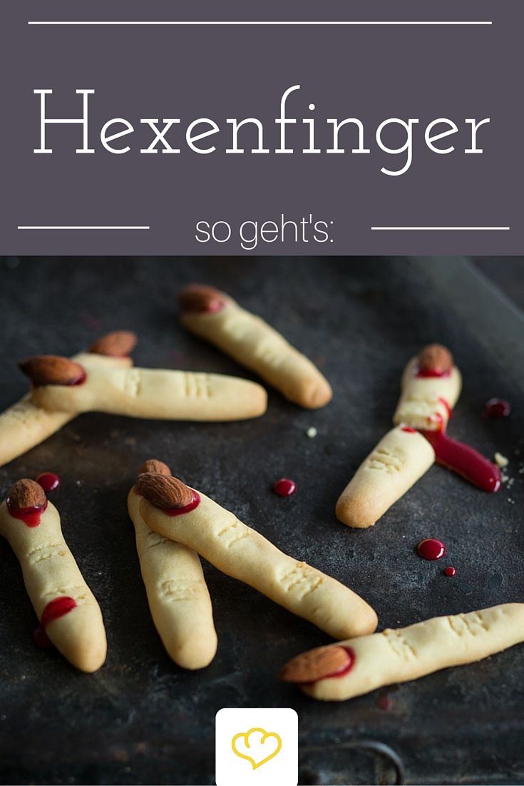 Knusprige Hexenfinger - toll für jede Halloween-Party! Wer sich traut und probiert wird mit leckeren Mandel-Vanille Keksen belohnt!