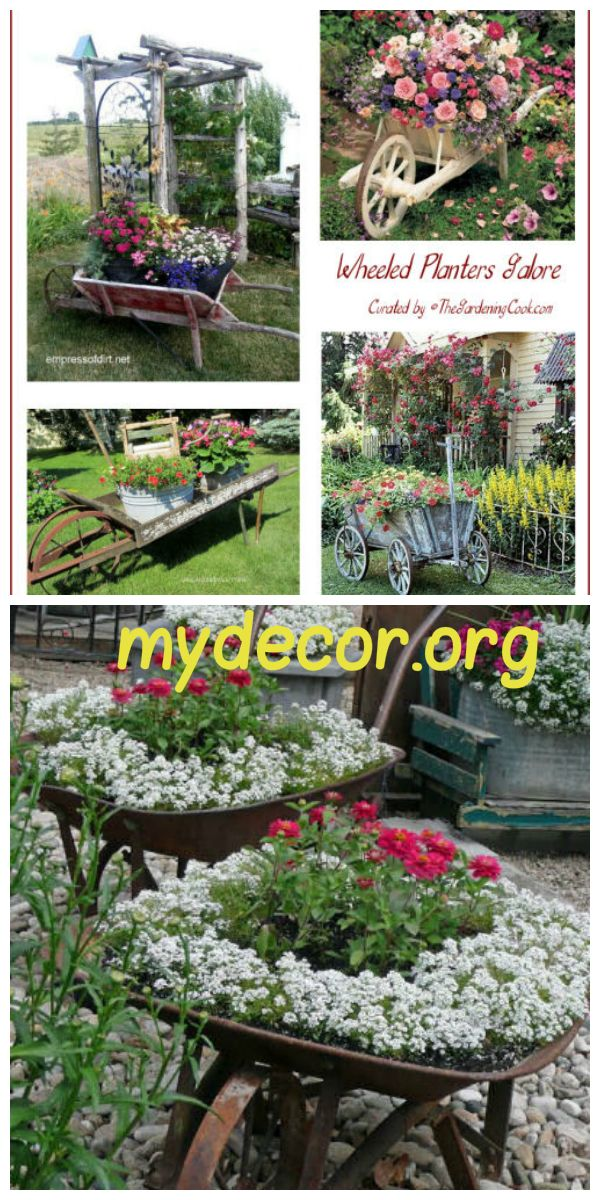 There are a lot of planters for sale at garden centers, but you could break the bank buying many of them. Why not see what you have handy that would make great planters? Old wheelbarrows and wagons fit that bill perfectly. Wheelbarrow planters are one things on my bucket list of must do ga...