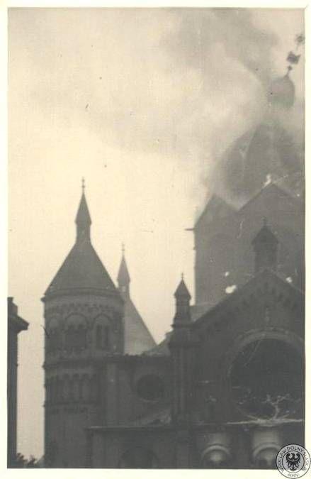 Nowa Synagoga Wrocław / pozar
