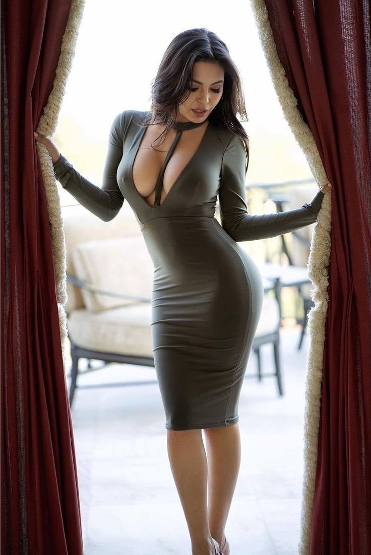 tight long dress porn