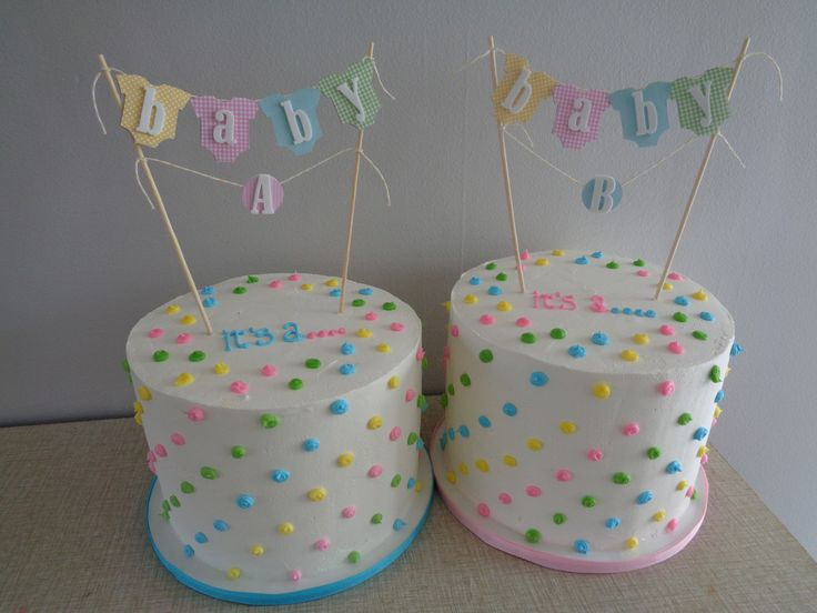 Gender Reveal Cakes (for twins)