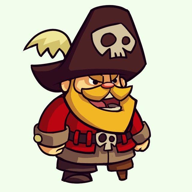 Derek Laufman's pirate sprite