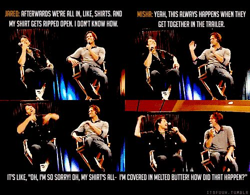 [Click for the GIF]...Misha is so hilarious. It's not fair for one guy to be filled with so much awesome.