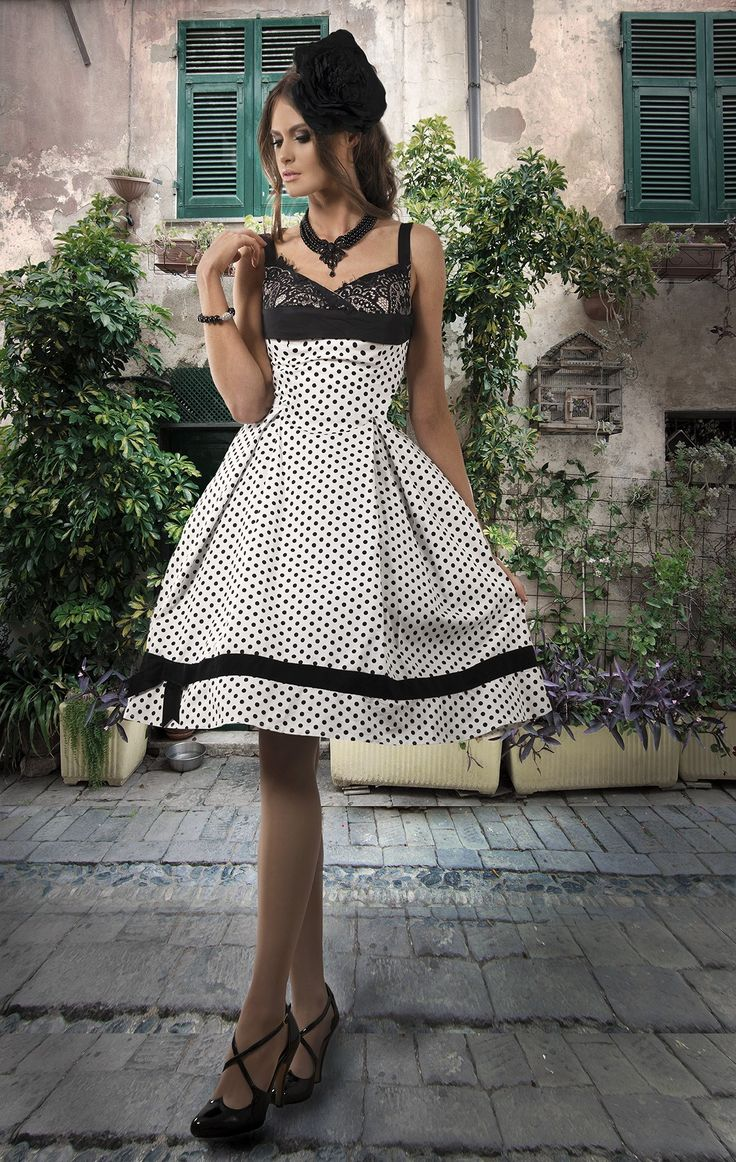 Kitten D'Amour: D'Amour Spot Dress -new vintage pinup rockabilly - white and black polka dot dotty Dottie spotty spot bow, lace Buy Recent Collections: http://www.kittendamour.com/brand_collections Buy & Sell Old Collections: https://www.facebook.com/groups/1384135828515551/