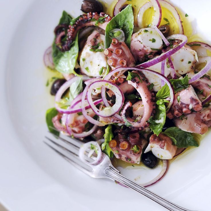 Poached Octopus Salad