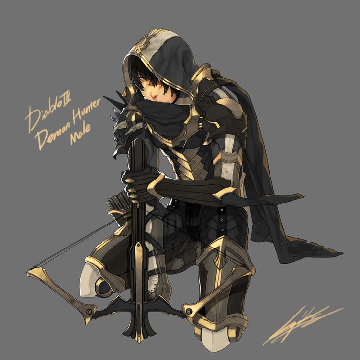 drawing : Old drawing of Diablo 3's Demon hunter by kugelcruor.deviantart.com on @DeviantArt