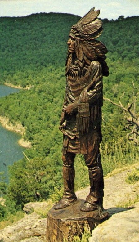 """INDIAN"" CARVED IN BLACK WALNUT, By: BOB ROBERTSON...Sculpture Size: 6'H. X 22""W. [sold]"