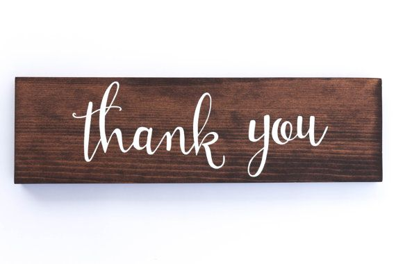 Thank You wedding sign // wedding wooden signs by DearHeartSigns