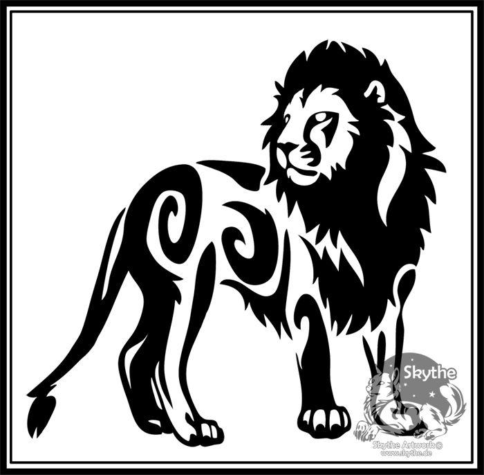 Tribal Tiger By Ruttan On Deviantart: Lion Tribal By *SkyeNova On DeviantART