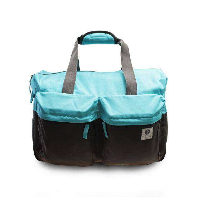 Ridgebake Weekender Bag - Sky & Chocolate