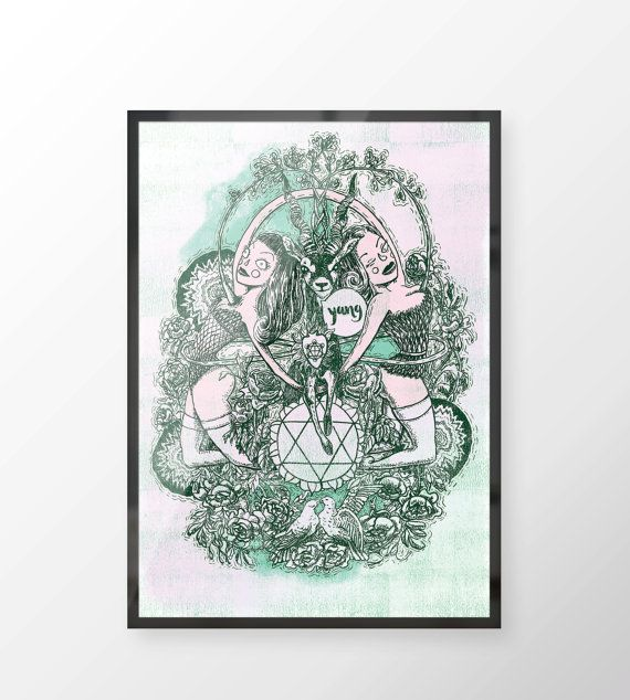 Heart Chakra  Witches of the Nine Worlds by LillaBolecz on Etsy