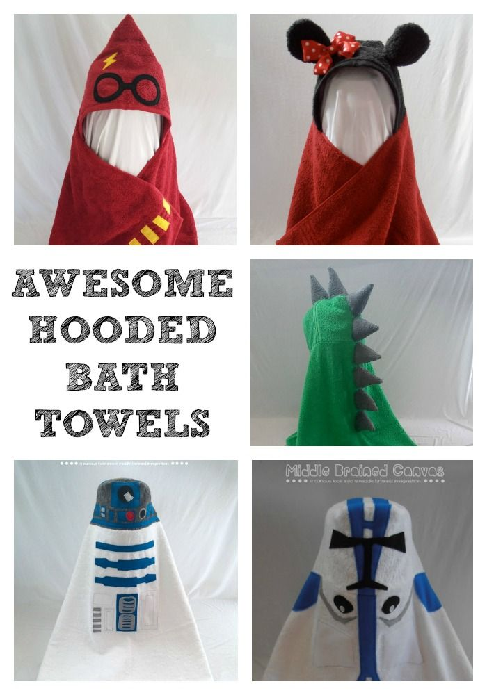 How awesome are these Fun Hooded Bath Towels! I wan't some made for me! Maybe a Snow White one?!