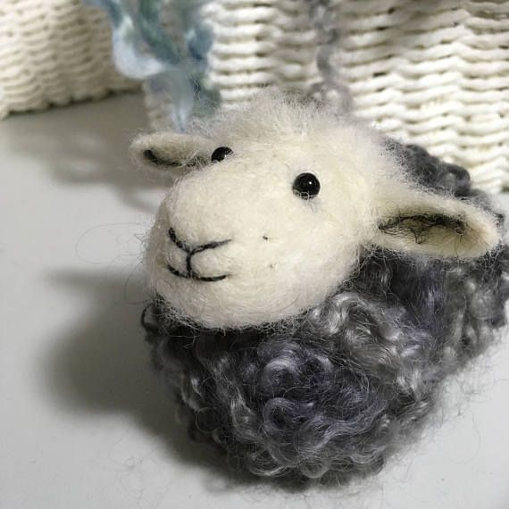 Sheep nursery decor/ Needle felted Herdwick sheep/ Sheep