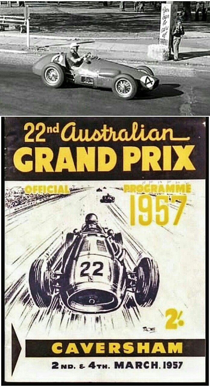 Australian driver Lex Davidson piloted his Ferrari 625F1 (pictured) to victory on 4 March 1957 at the Australian Grand Prix, held on a street circuit in Caversham. Davidson went on to win the 1957 Australian Drivers' Championship, and won the Australian Grand Prix four times between 1954 and 1961.