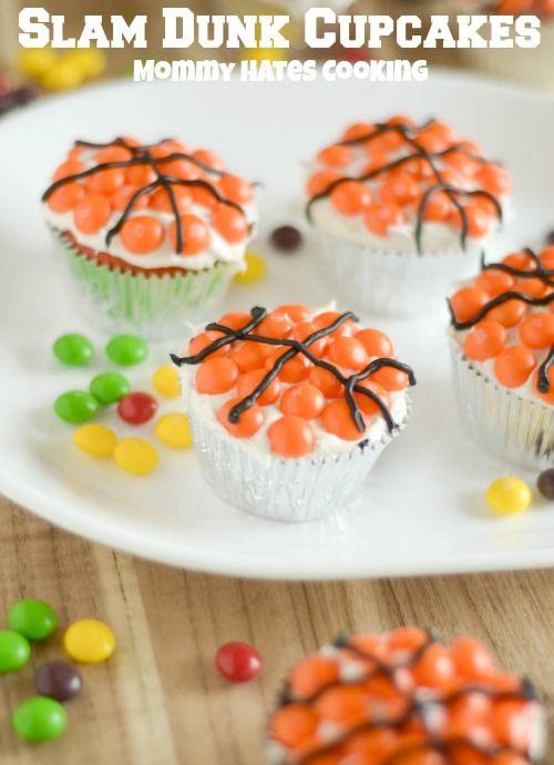 Slam Dunk Cupcakes #SkittlesTourney #ad