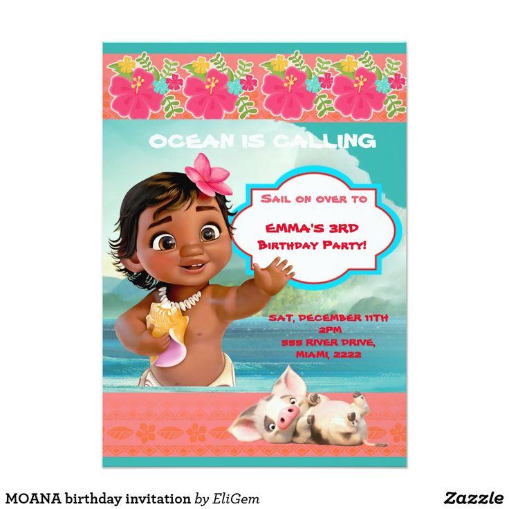 8 best custom made birthday invitations for kids moana unicorns moana birthday invitation birthday diy gift present custom ideas filmwisefo