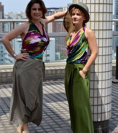 Seoul woman sarouel pattern from the New URBAN JUNGLE pattern collection #pattern #sewing