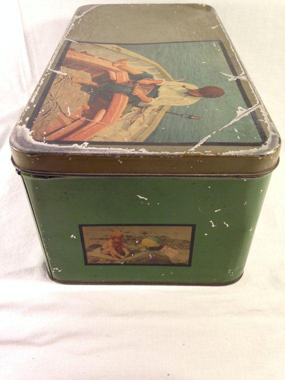 Vintage Tin Box  Pane Degli Angeli Genoa 60s / 70s by PattiandCo