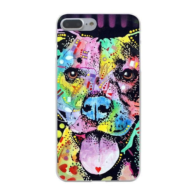 Pitbull dog Hard Phone Cover Case for Apple iPhone 10 X 8 7 6 6s Plus 5 5S SE 5C 4 4S Coque Shell