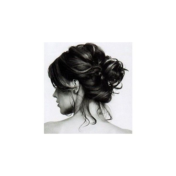 10 Buns For Those With Short Hair ❤ liked on Polyvore featuring beauty products, haircare, hair styling tools and hair