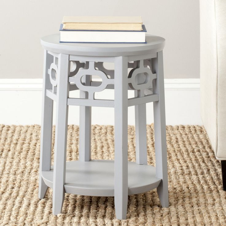 HUMESTON GREY SIDE TABLE Its Petite Stature Is Perfect For An Extra Lamp, A  Cup