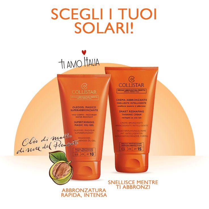 I tuoi fedeli alleati per quest'#estate? I #solari #Collistar! Scopri i prodotti giusti per ottenere  un'#abbronzatura luminosa, intensa e duratura proteggendo #viso, #corpo e #capelli!