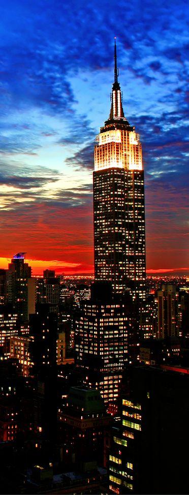 Empire State Building, 443m, 1931, New York, USA