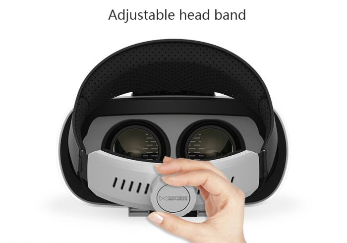 Baofeng Mojing IV Virtual Reality Headset 3D Glasses with Remote Controller for iOS iPhone White & Black - Tmart