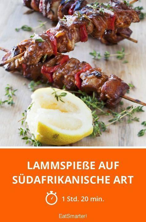 Lammspieße auf südafrikanische Art - smarter - Zeit: 1 Std. 20 Min. | eatsmarter.de