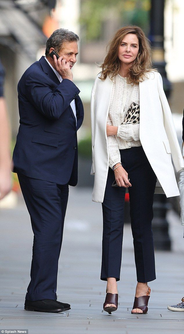 Afternoon outing: Charles Saatchi and Trinny Woodall headed to Scott's in Mayfair, London ...