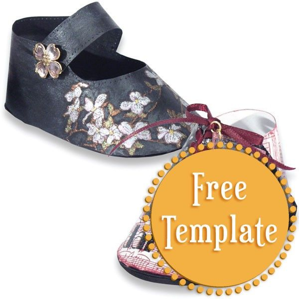 Printable Paper Baby Shoe Template