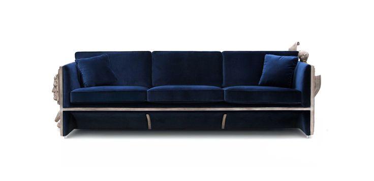 Versailles Sofa By Boca do Lobo   www.bocadolobo.com #bocadolobo #luxuryfurniture #luxurydesign #bespoke #furnituredesign #readytoship #sofa #versailles