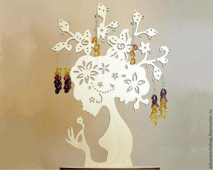"""Купить Подставка под украшения """"Цветочная фея"""" - белый, подставка для украшений, для украшений, для украшения"""
