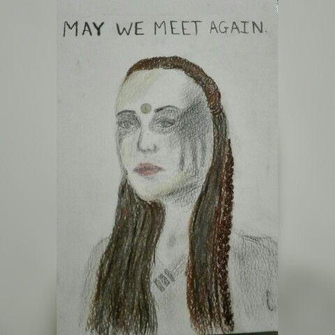 MAY WE MEET AGAIN Commander Lexa drawing by Caro Botha