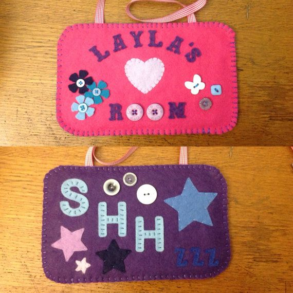 The photo shows a customer order - each order is customised to the buyer. This a a double sided door sign. Various colours, words, embellishments