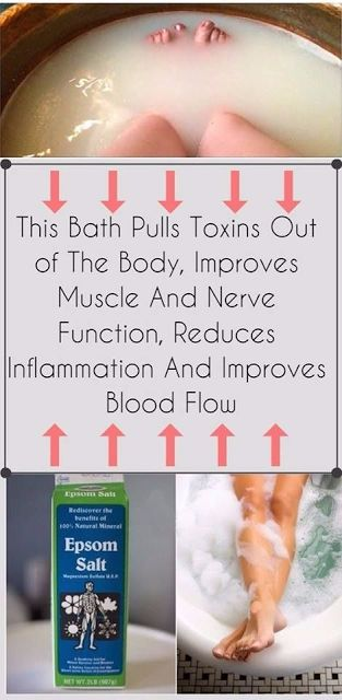THIS BATH PULLS TOXINS OUT OF THE BODY; IMPROVES MUSCLE AND NERVE FUNCTION, REDUCES INFLAMMATION AND IMPROVES BLOOD FLOW