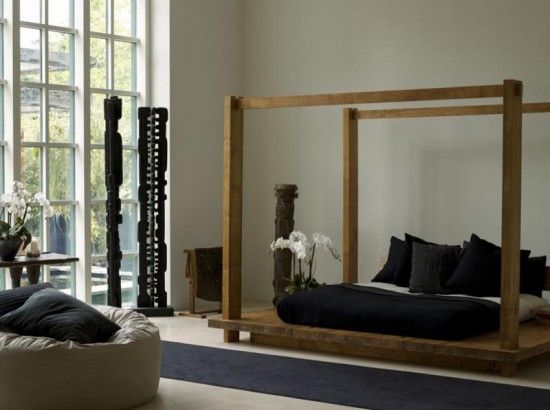 Urban Zen Platform Bed With Adjustable Headboard By Donna Karan Traditional Balinese Furniture Inspired