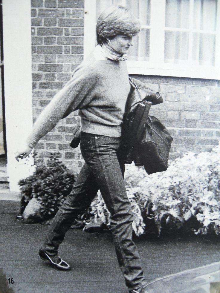 Januay 8, 1981: Lady Diana Spencer, leaving Nick Gassalees home