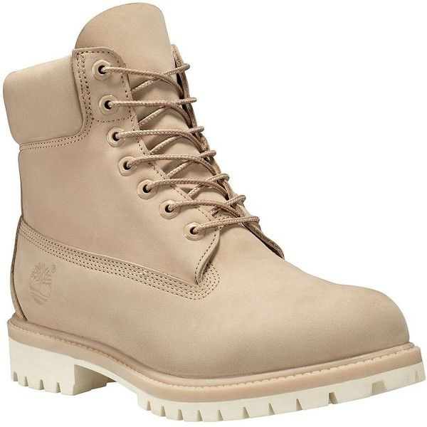 Timberland Men's Nubuck Leather 6-Inch Boots ($190) ❤ liked on Polyvore featuring men's fashion, men's shoes, men's boots, men's work boots, croissant, mens lace up boots, timberland mens work boots, mens boots, timberland mens boots and mens work boots