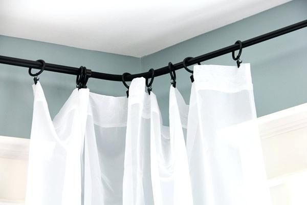 Beautiful Corner Curtain Rod Illustrations Fresh Corner Curtain
