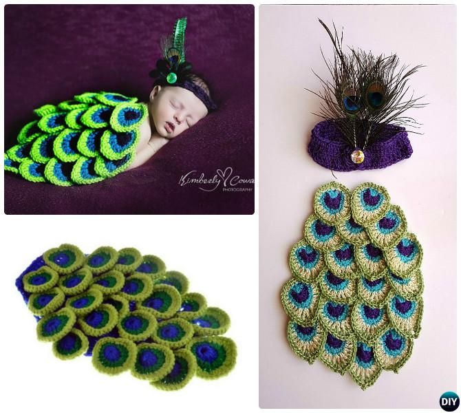 16 Crochet Peacock Feather Free Patterns Photography ...