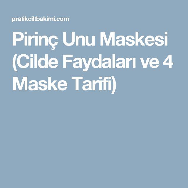 Pirinç Unu Maskesi (Cilde Faydaları ve 4 Maske Tarifi)