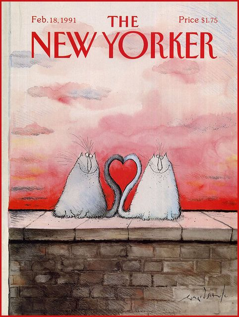 The New Yorker cover, February, 1991    Art by Ronald Searle