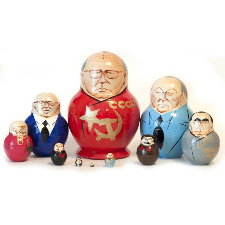 New Products. Gorbachev and other Russian Political Leaders is a classical  Russian p... http://russian-crafts.com/nesting-dolls/matryoshkas/gorbachev-and-other-political-leaders.html