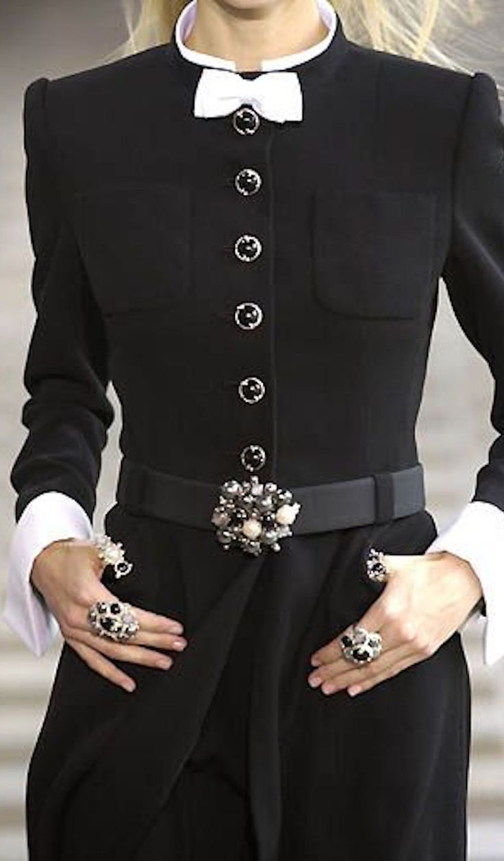 Chanel, classic black and white.