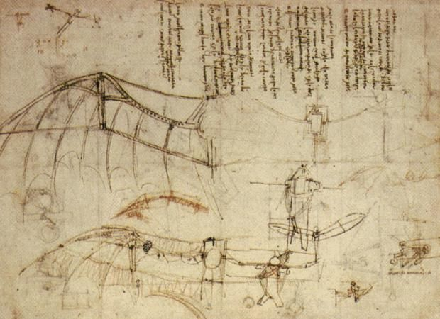 Inventions of Leonardo DaVinci: Design for a Flying Machine 2