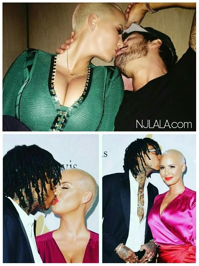 #AmberRose Kisses On #WizKhalifa At Pre-Grammy Party Like 2.5 Secs After #ValChmerkovskiy Breakup  http://www.njlala.com/2017/02/amber-rose-kisses-on-wiz-khalifa-at-pre.html  #OooLaLaBlog