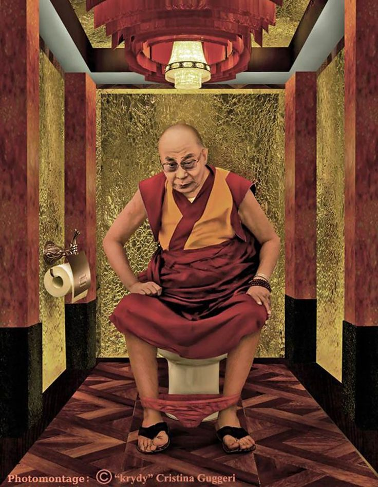 Le Dalaï Lama Photo Montage ©Cristina Guggeri