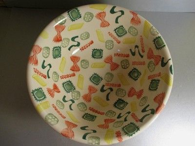 Pasta Shapes Large Serving Bowl 1995 (Discontinued)