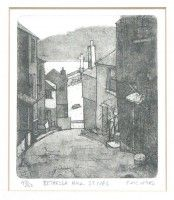 Eric Ward Limited Edition Etching 'Bethesda Hill, St Ives'